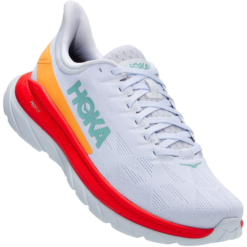 Image for Hoka One One Men's Mach 4 Wide Running Shoes - White from elliottsboots