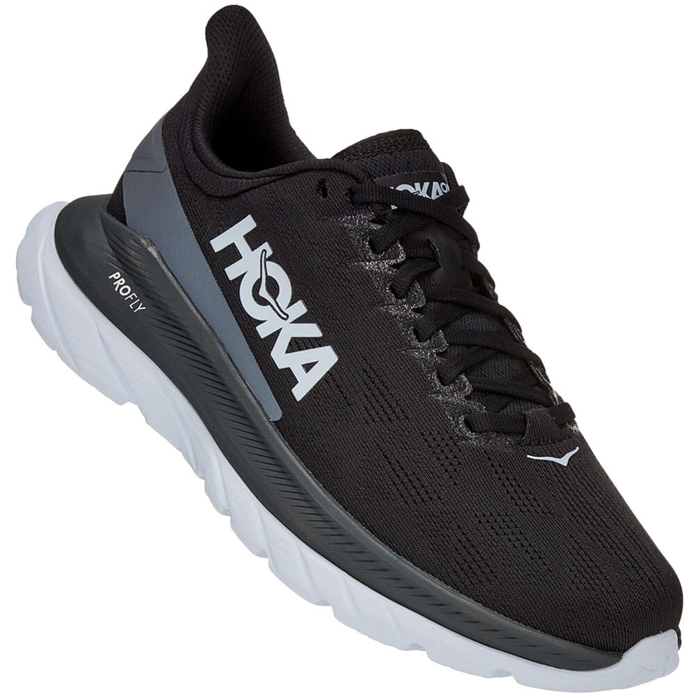 Image for Hoka One One Women's Mach 4 Running Shoes - Black/Dark Shadow from bootbay