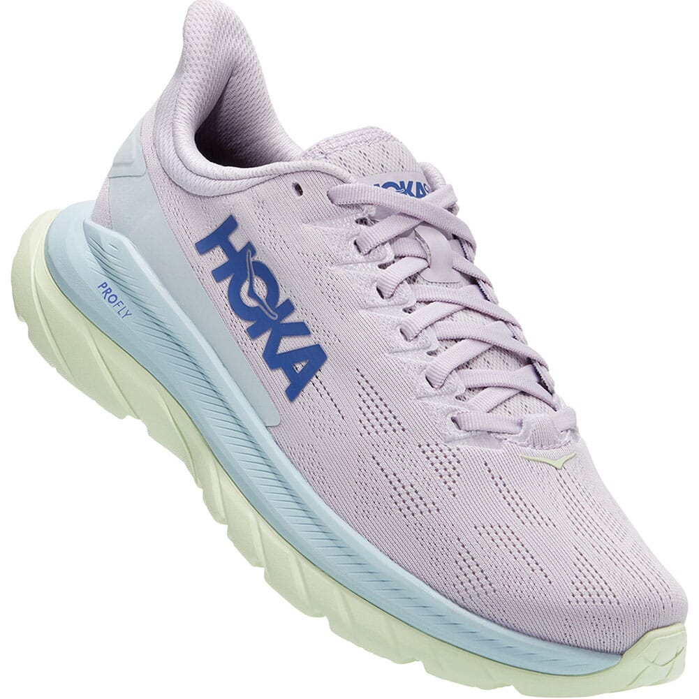 Image for Hoka One One Women's Mach 4 Running Shoes - Orchid Hush/Iris Bloom from bootbay