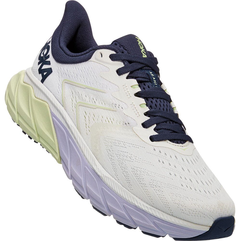 Image for Hoka One One Women's Arahi 5 Wide Running Shoes - Blanc de Blanc/O from elliottsboots
