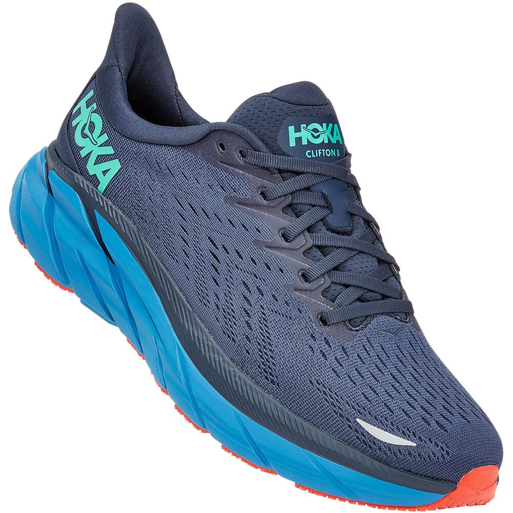 Image for Hoka One One Men's Clifton 8 Athletic Shoes - Outer Space from bootbay