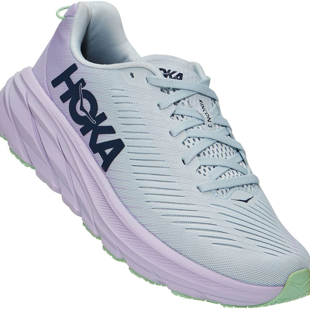 Image for Hoka One One Women's Rincon 3 Running Shoes - Plein Air/Orchid Hush from bootbay