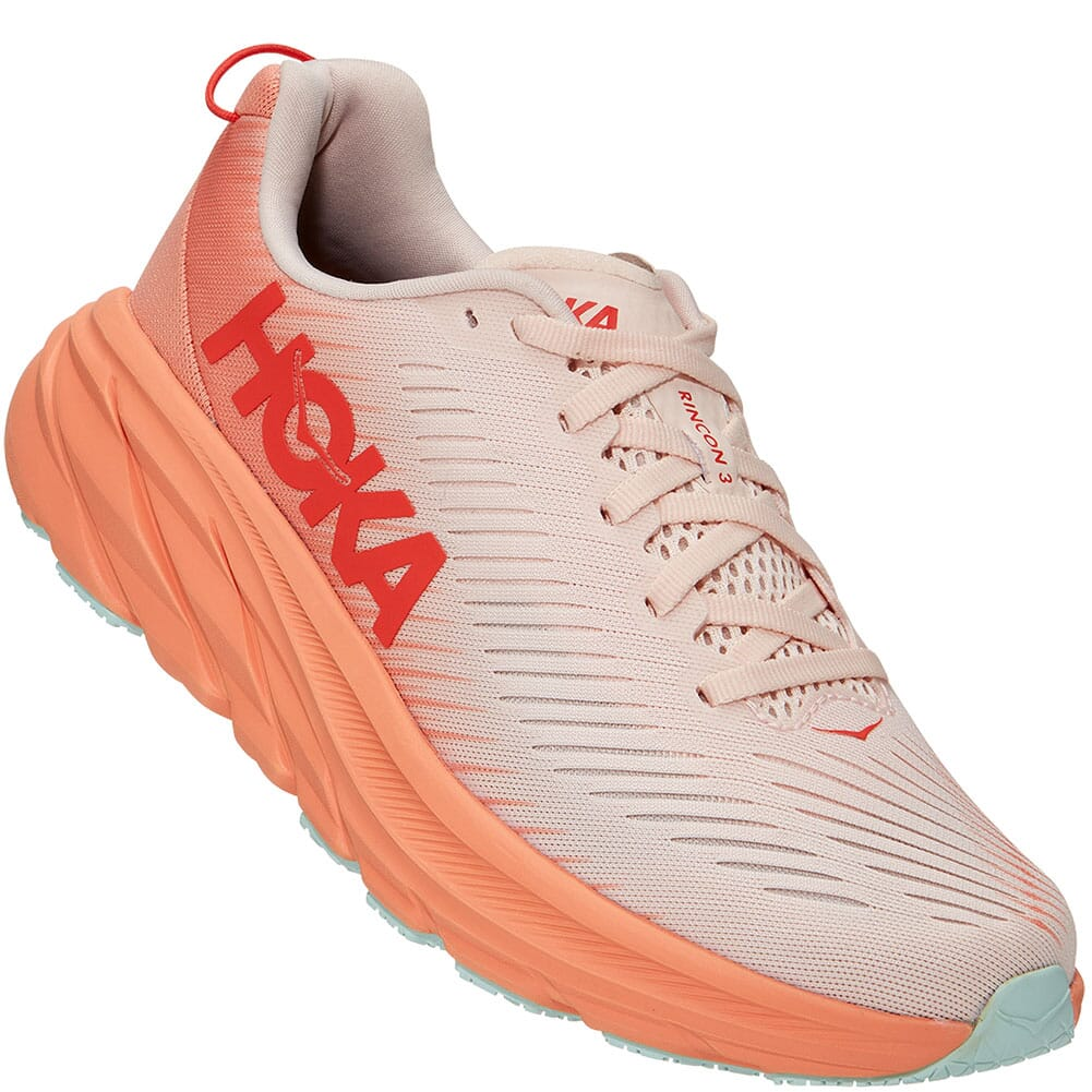Image for Hoka One One Women's Rincon 3 Running Shoes - Silver Peony/Cantalou from elliottsboots