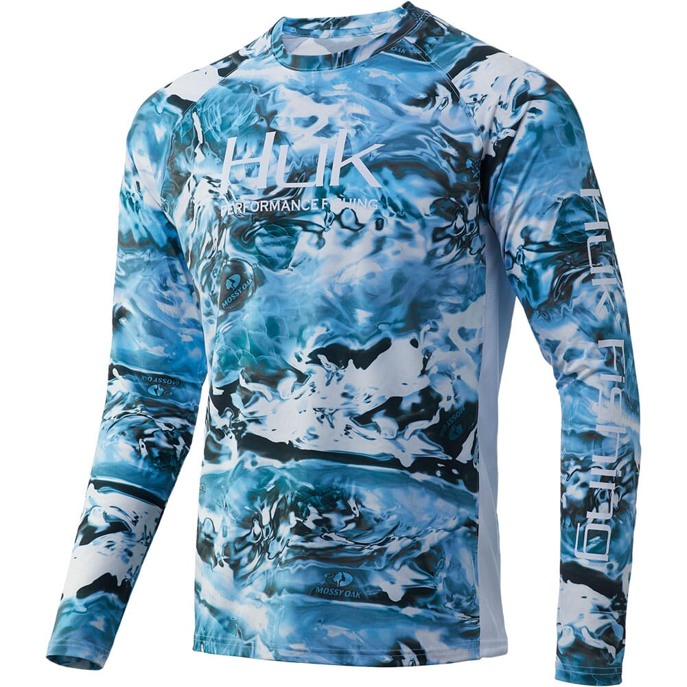 Image for HUK Men's Pursuit Long Sleeve - Mossy Oak Hydro (Instore Only) from bootbay