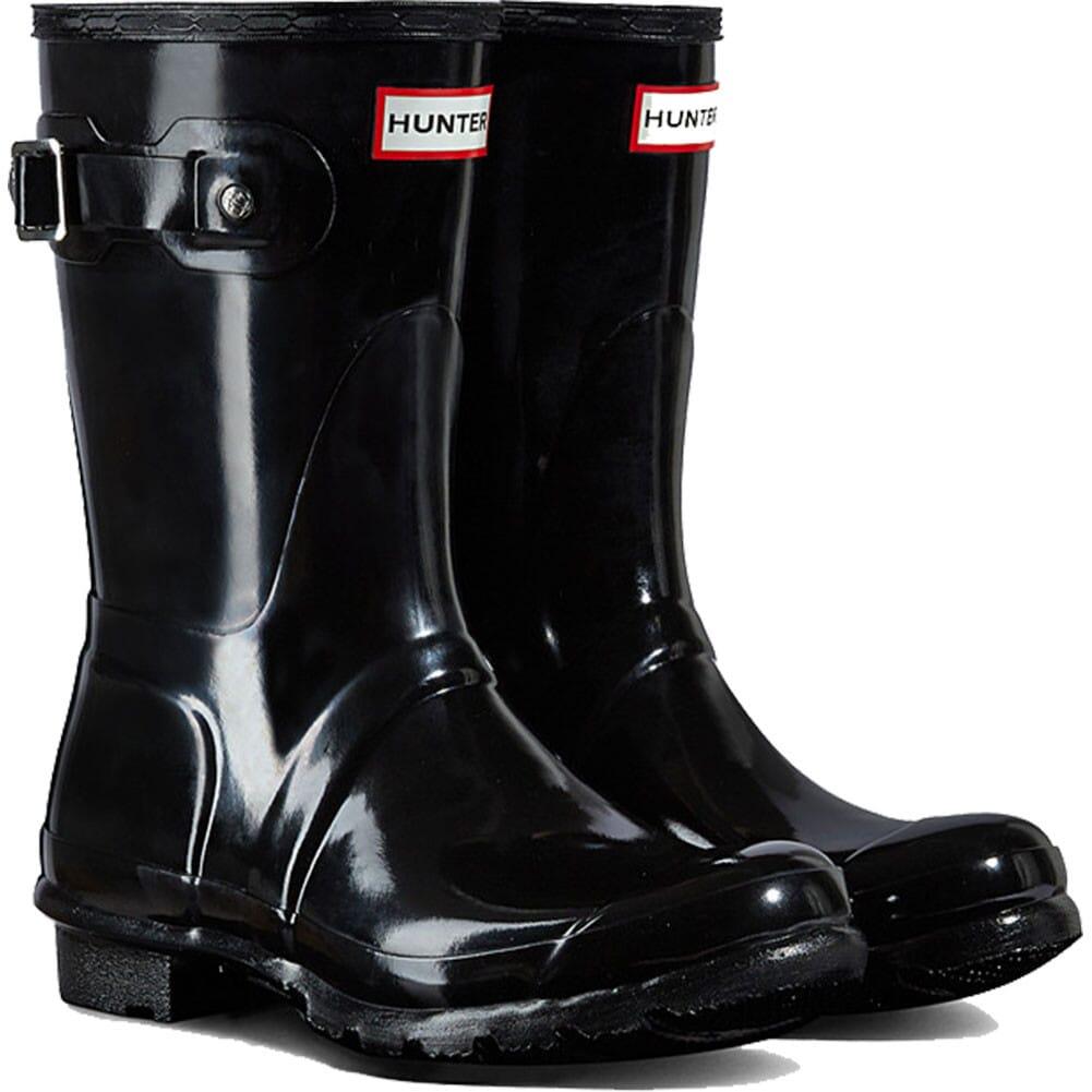 Image for Hunter Women's Original Short Gloss Rain Boots - Black from elliottsboots