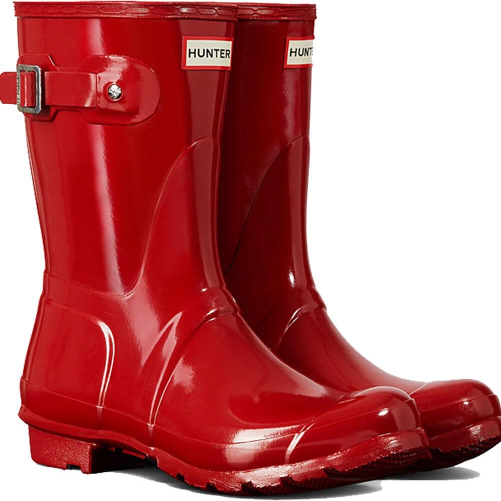 Image for Hunter Women's Original Short Gloss Rain Boots - Military Red from elliottsboots