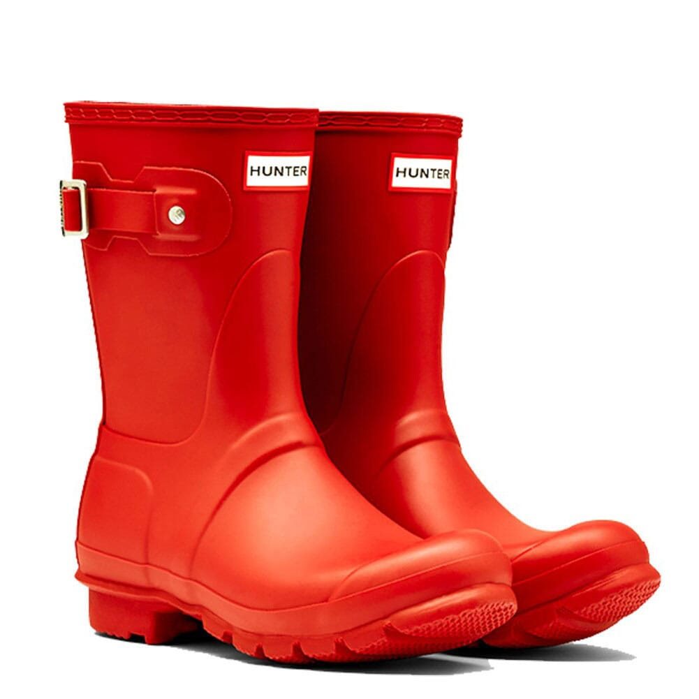 Image for Hunter Women's Short Rain Boots - Red from elliottsboots