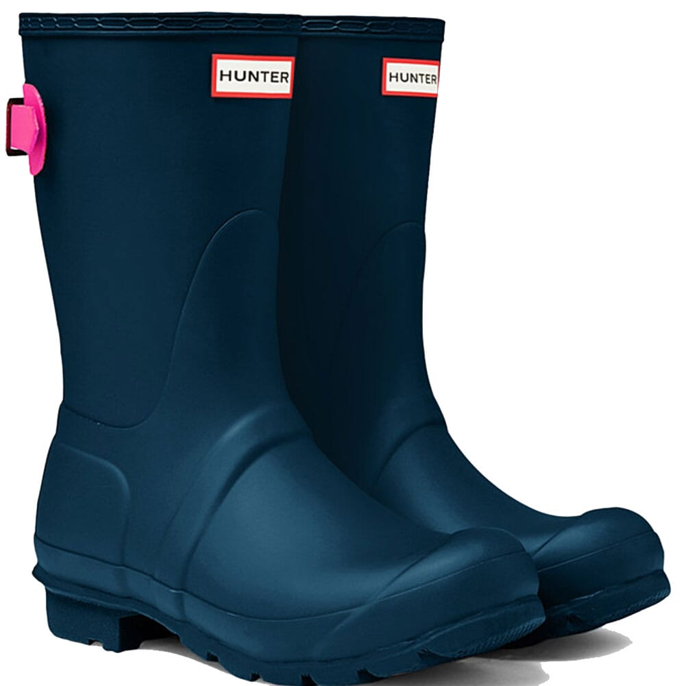 Image for Hunter Women's Short Adjustable Rain Boots - Blue from elliottsboots