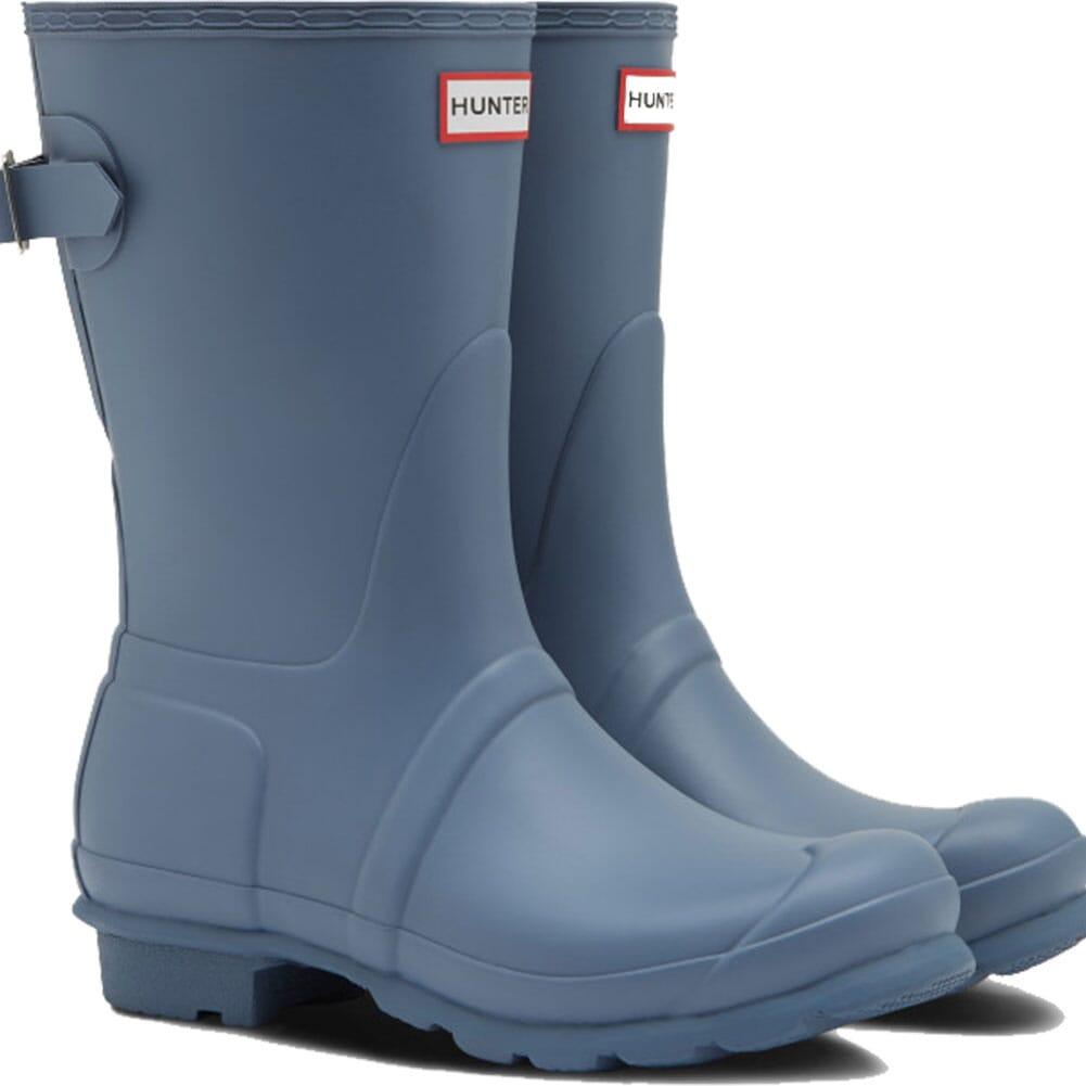 Image for Hunter Women's Short Back Adjustable Rain Boots - Gull Gray from elliottsboots