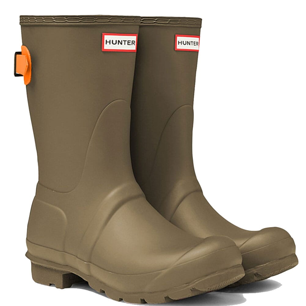 Image for Hunter Women's Short Adjustable Rain Boots - Swamp Green/Com from elliottsboots