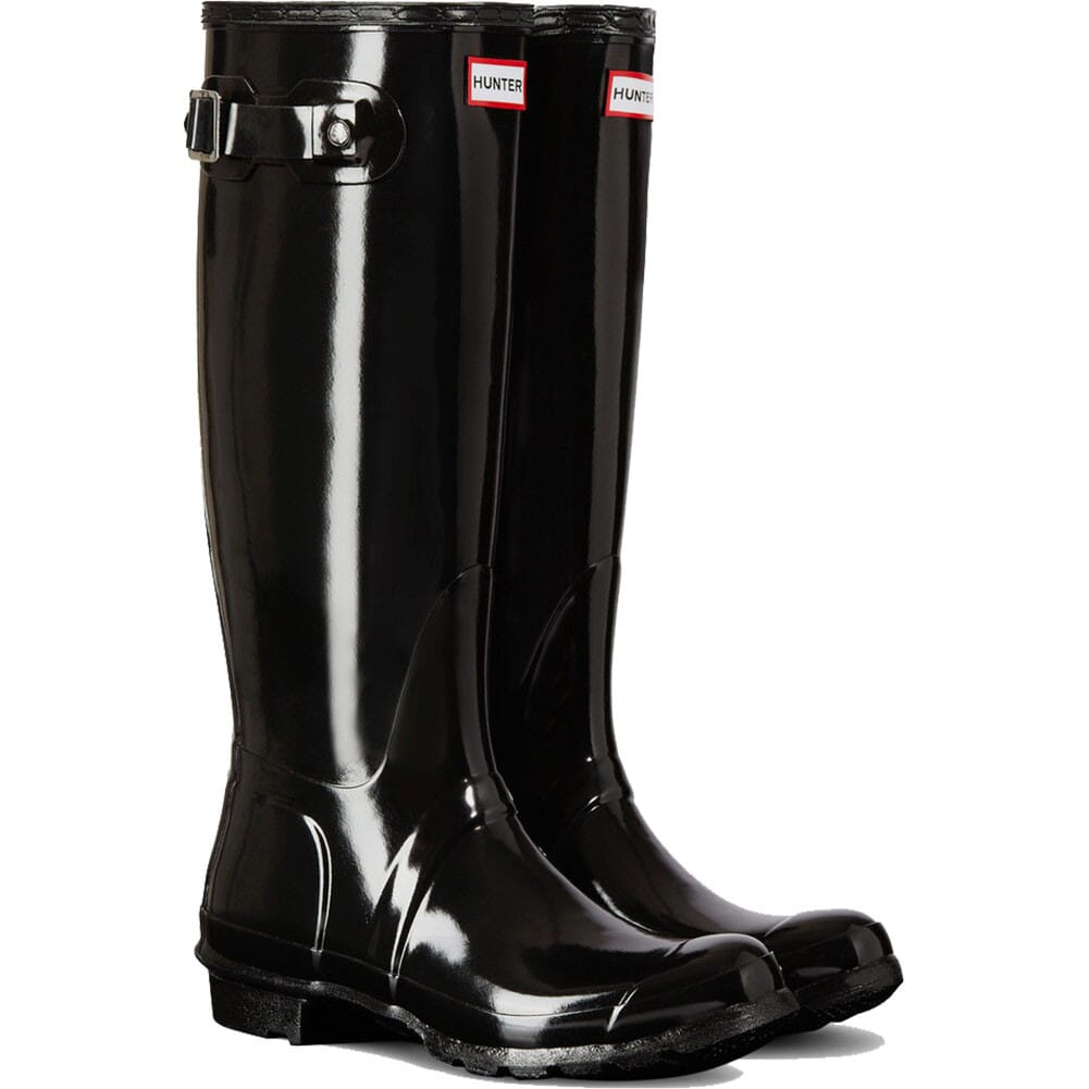 Image for Hunter Women's Original Gloss Rain Boots - Black from elliottsboots