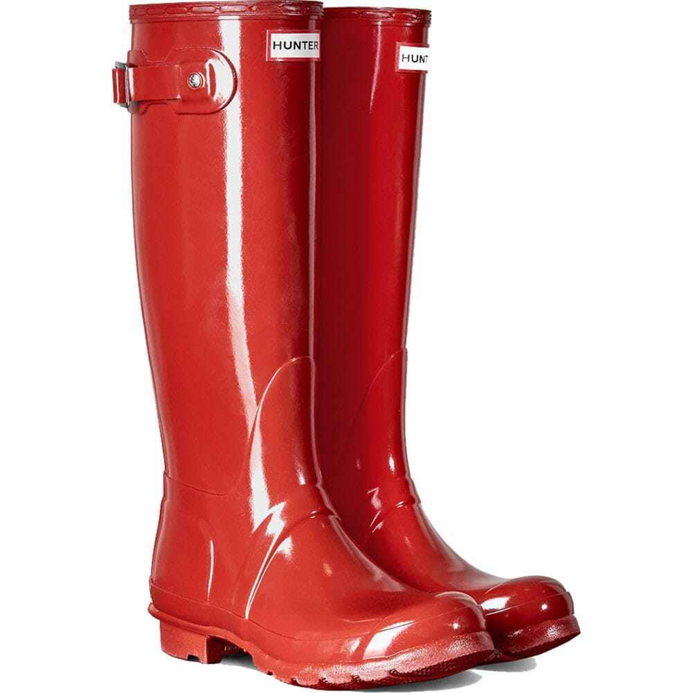 Image for Hunter Women's Original Tall Gloss Rain Boots - Red from elliottsboots