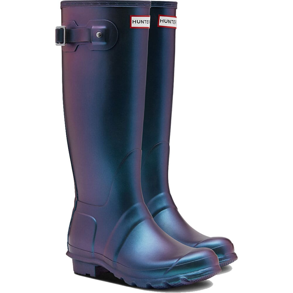 Image for Hunter Women's Original Nebula Tall Rain Boots - Wave Blue from elliottsboots