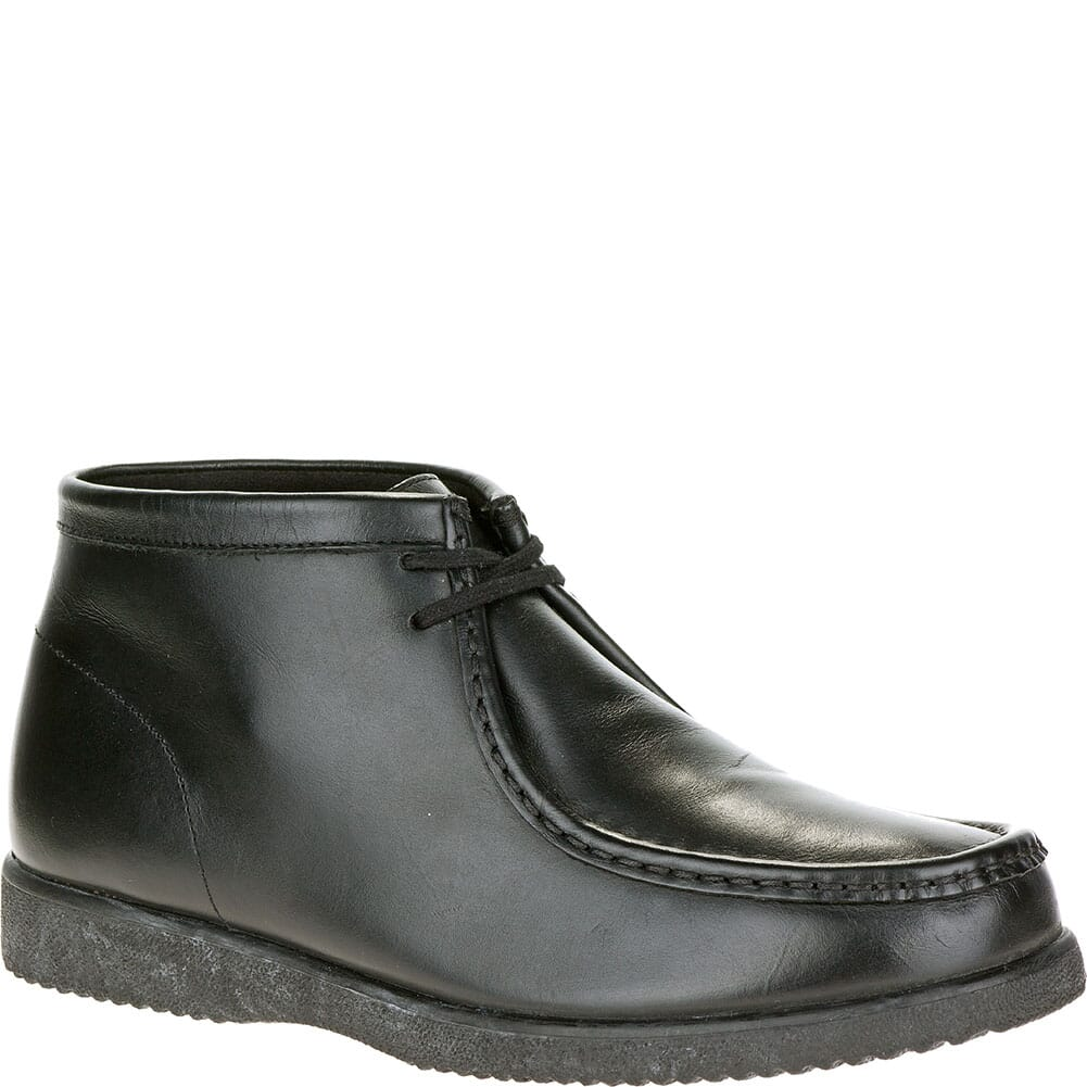 Image for Hush Puppies Men's Bridgeport Casual Shoes - Black Leather from bootbay