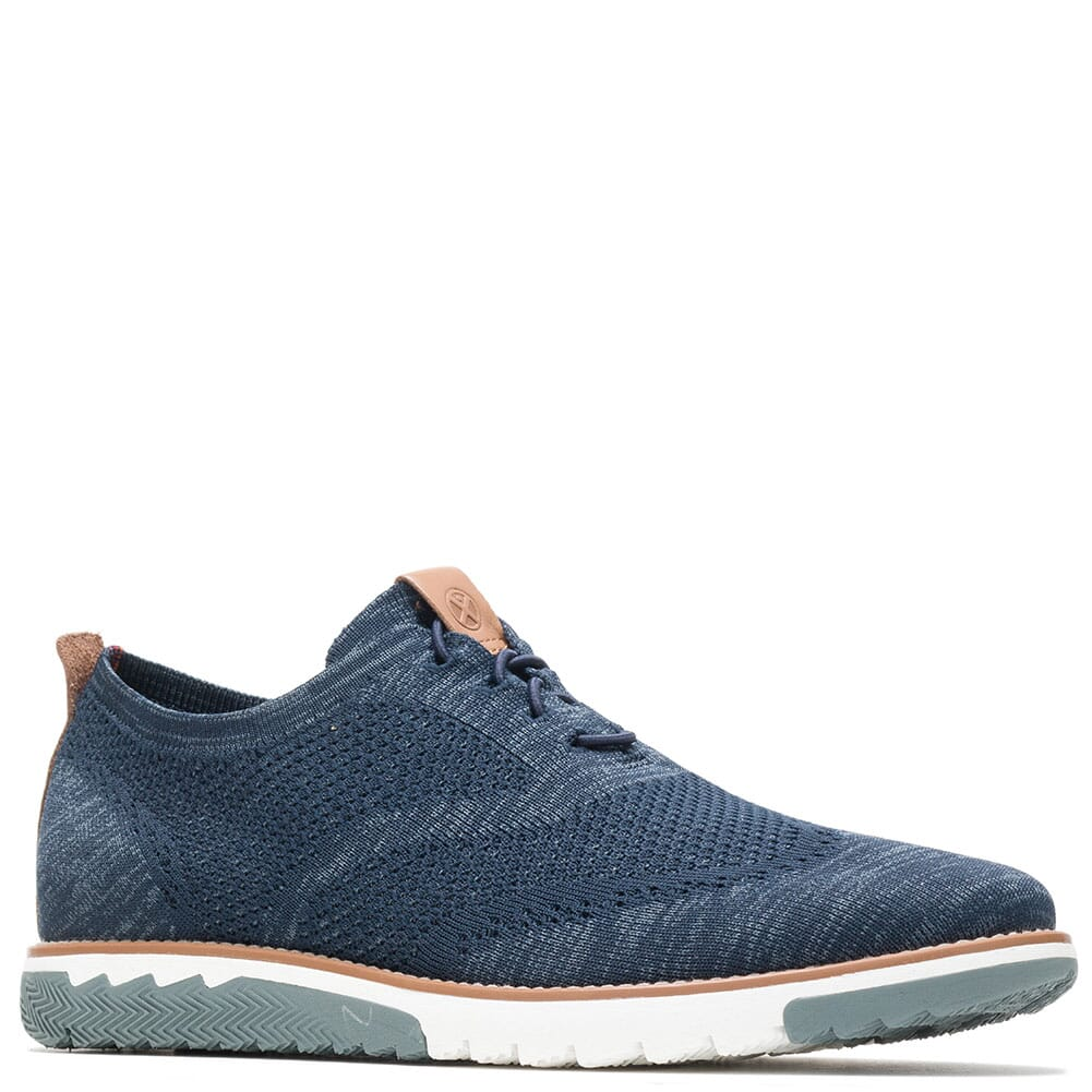 Image for Hush Puppies Men's Expert Wingtip Knit Casual Shoes - Navy from bootbay