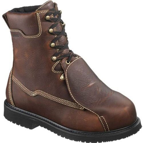 Image for Hytest Unisex External Metguard Safety Boots - Brown from bootbay