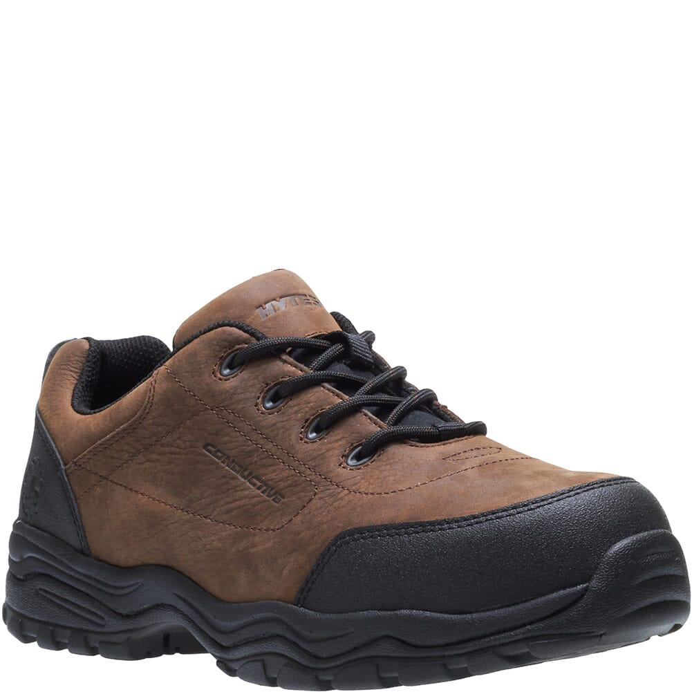 Image for Hytest Men's Hy-Ground Safety Shoes - Brown from bootbay