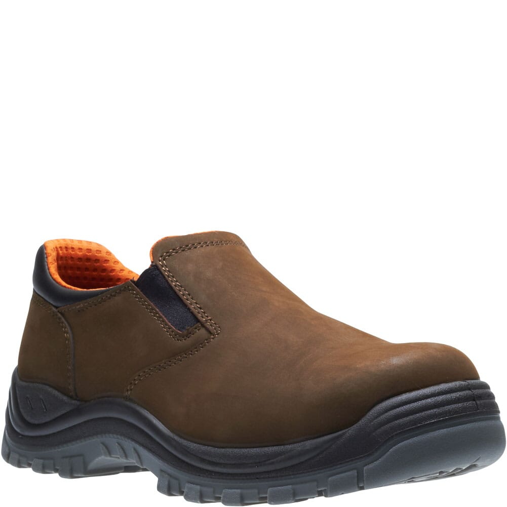 Image for Hytest Men's Knox Direct Attach Safety Slip On - Brown from bootbay
