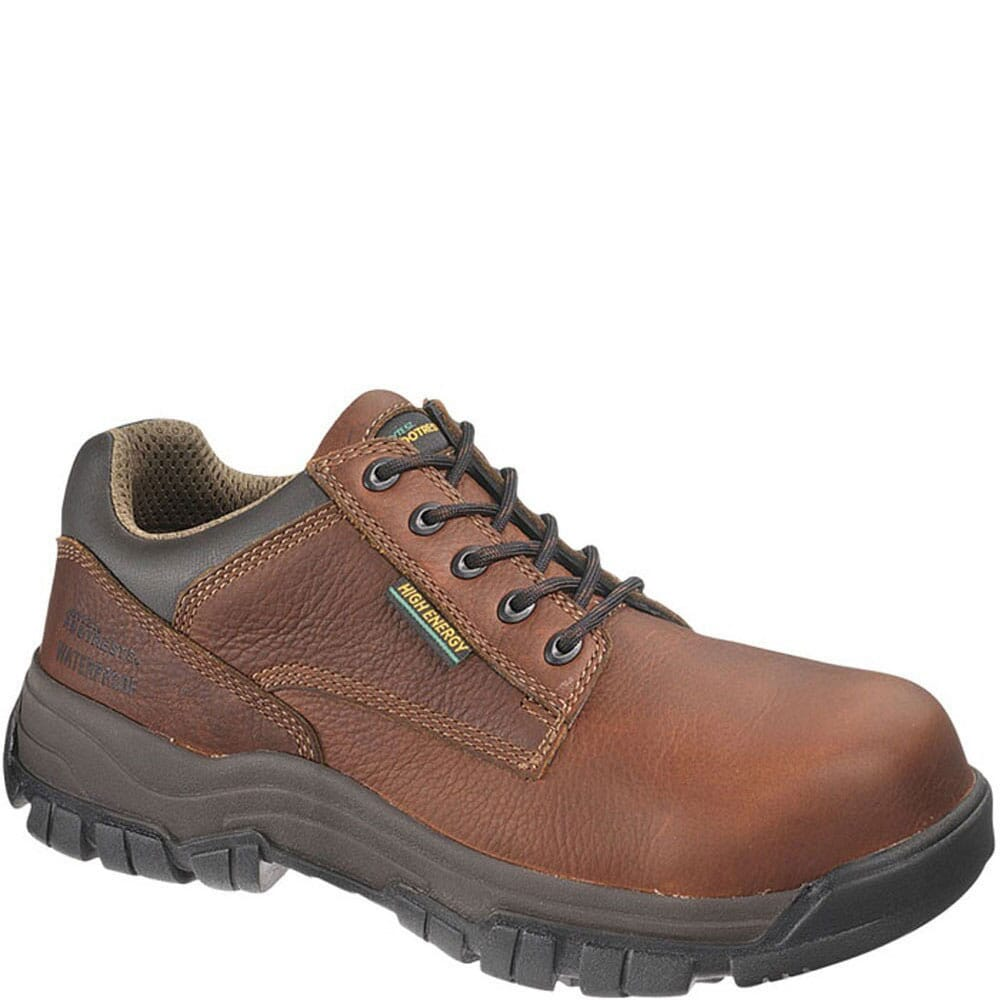 Image for Footrests by HyTest Men's High Energy Safety Shoes - Brown from bootbay