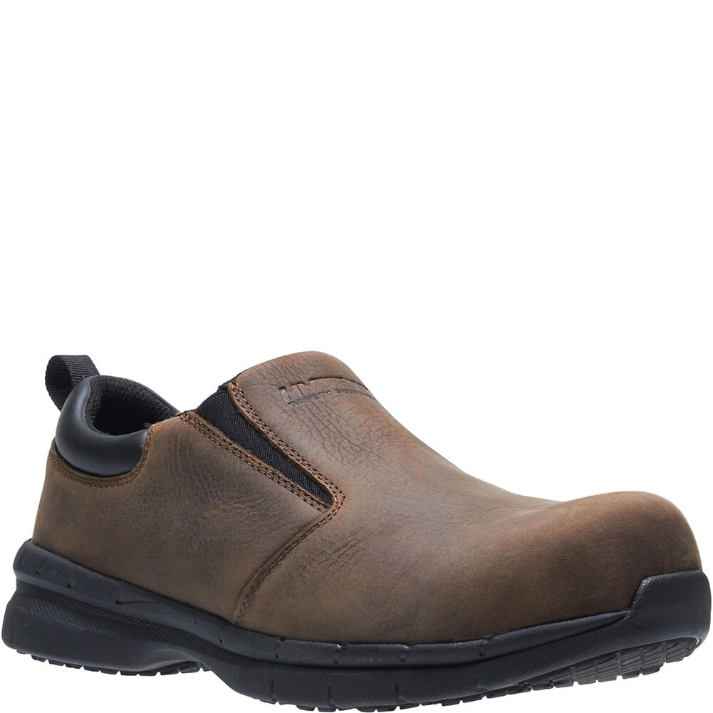 Image for Hytest Men's Carbon Nano Toe Safety Slip On - Brown from bootbay