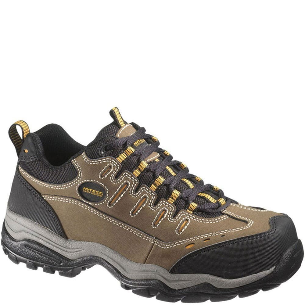 Image for Hytest Unisex Lightweight Safety Shoes - Brown from bootbay
