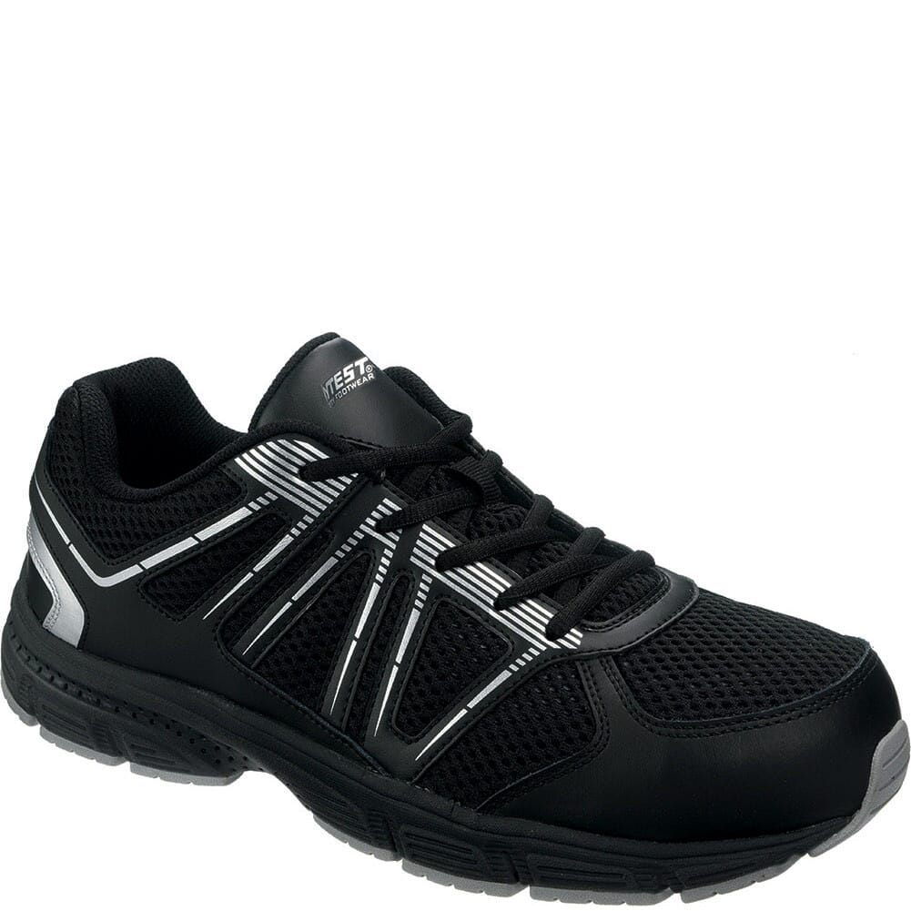 Image for Hytest Men's HY-VIS Safety Shoes - Black from bootbay