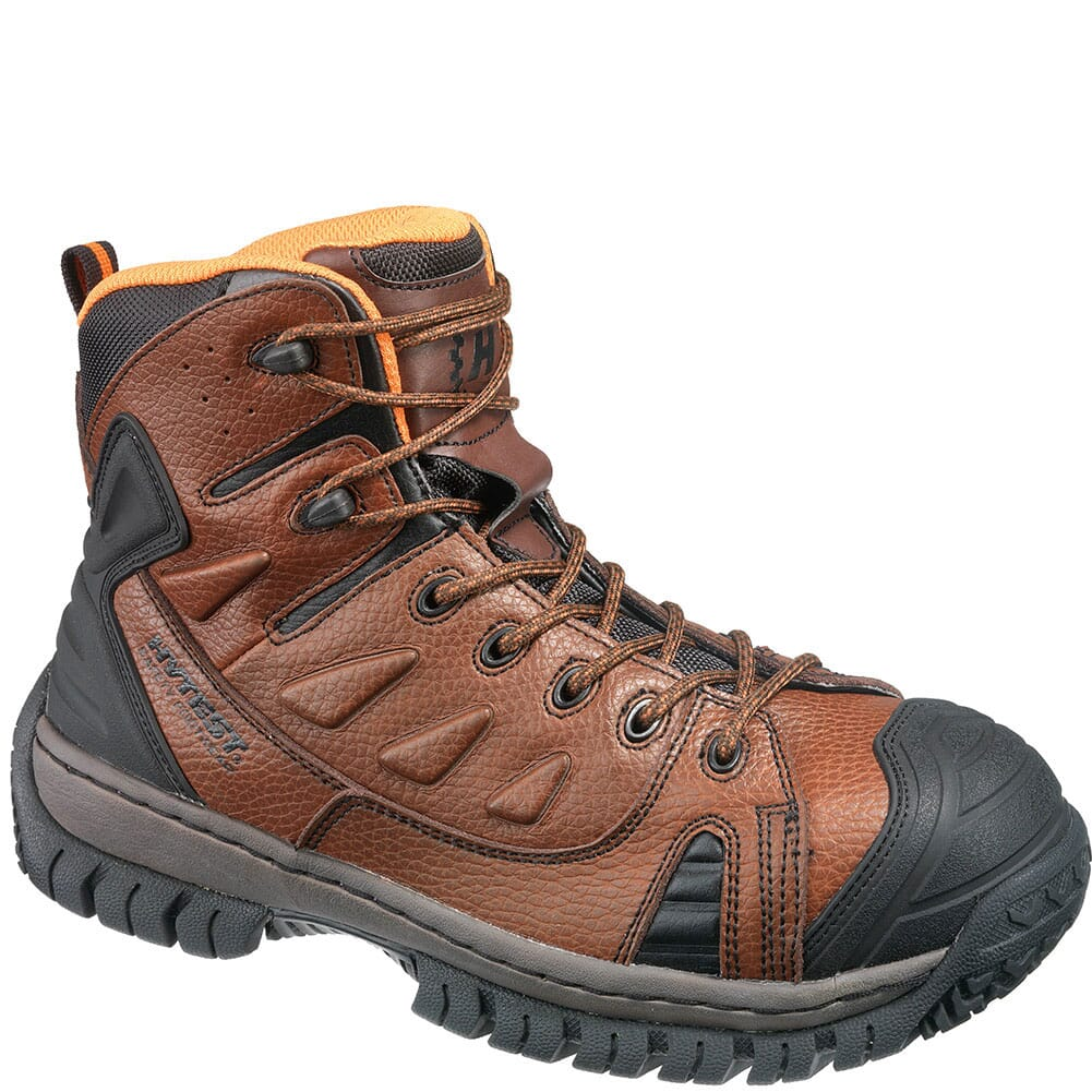 Image for Hytest Men's Steel Toe Safety Boots - Brown from bootbay