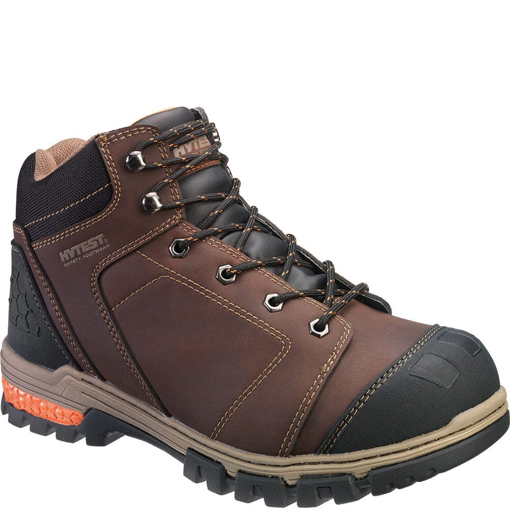 Image for Hytest Men's Waterproof Safety Boots - Brown from bootbay