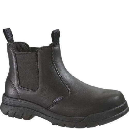 Image for Hytest Unisex Quick Release Safety Boots - Black from bootbay