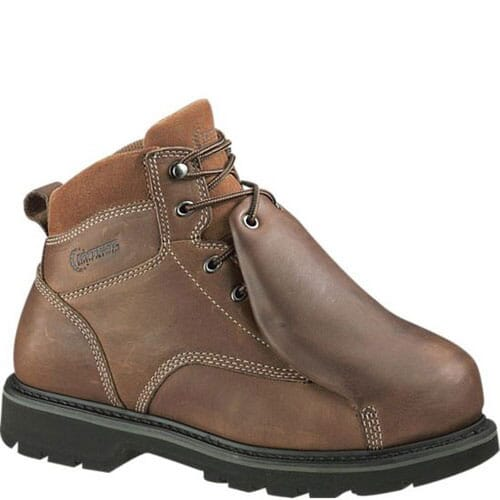 Image for Hytest Men's External Metguard Safety Boots - Brown from bootbay