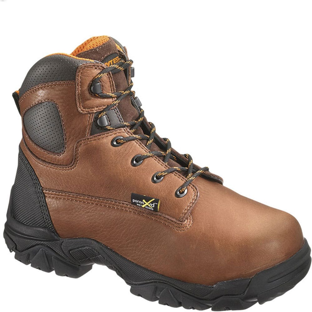 Image for Hytest Men's EH Internal Met Guard Safety Boots - Brown from bootbay