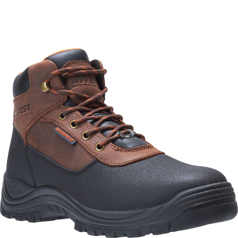 Image for Hytest Men's Knox Waterproof PR Work Boots - Brown from bootbay