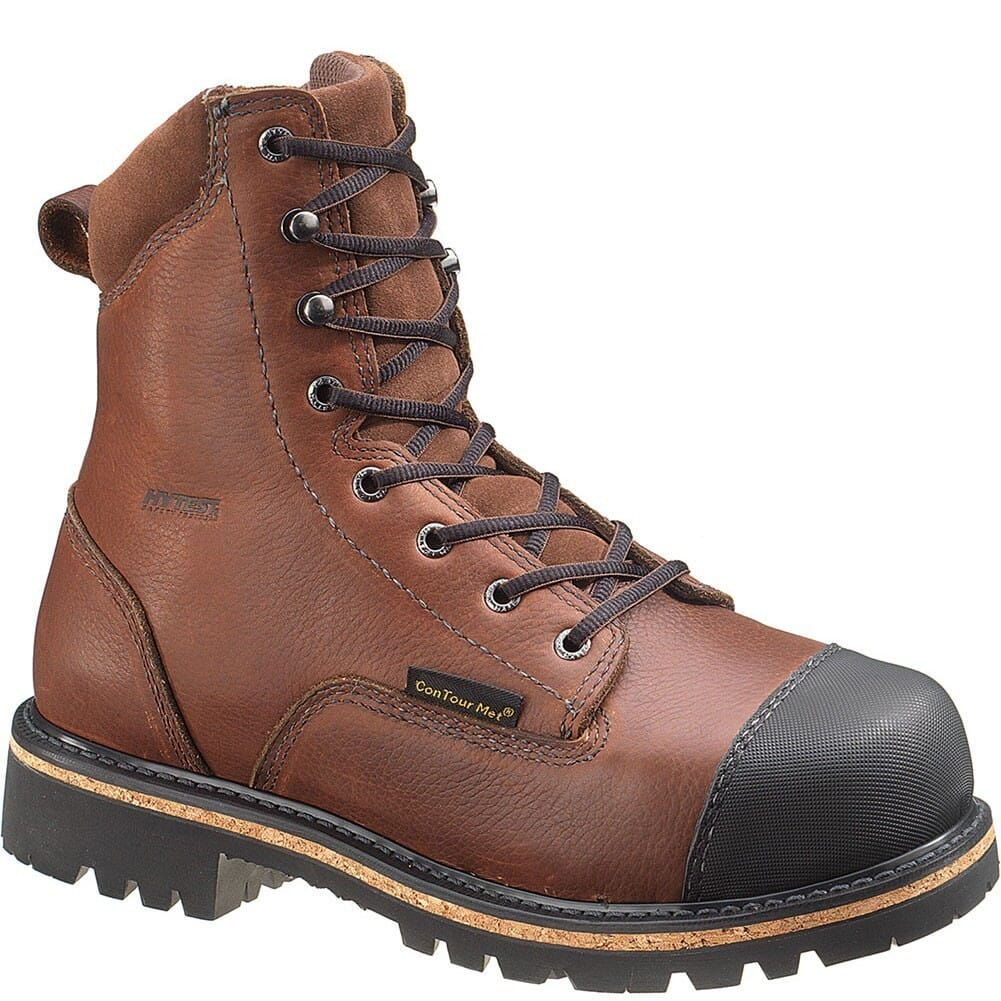 Image for Hytest Men's ConTour Internal Met Safety Boots - Brown from bootbay