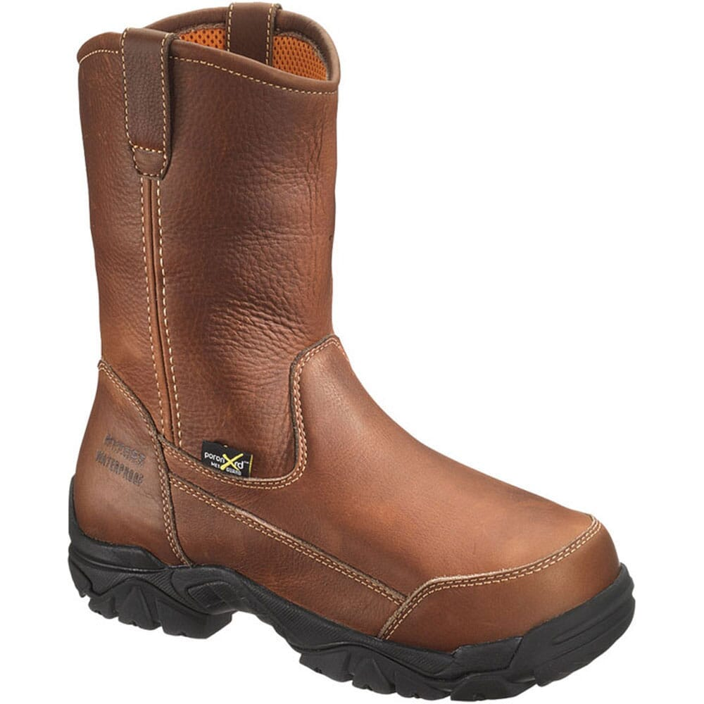 Image for Hytest Men's Met Guard Wellington Safety Boots - Brown from bootbay