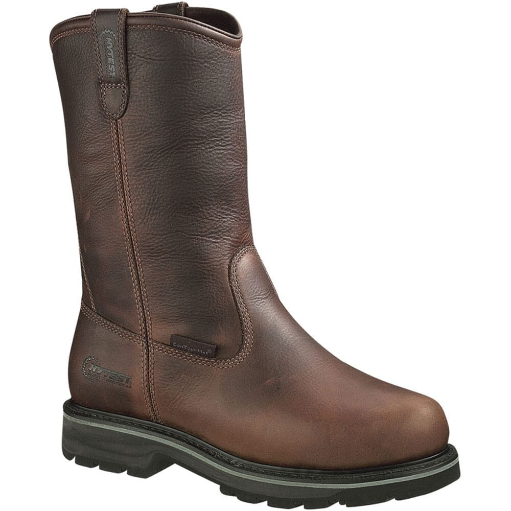 Image for Hytest Men's Internal Met Guard Safety Boots - Brown from bootbay