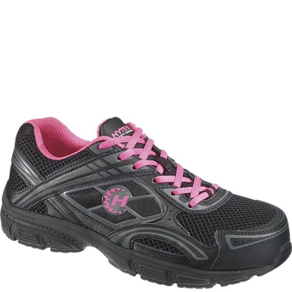 Image for Hytest Women's EH Steel Toe Safety Shoes - Black/Pink from elliottsboots