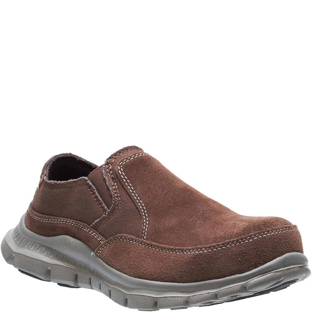 Image for Hytest Women's Steel Toe Slip Ons - Brown from bootbay