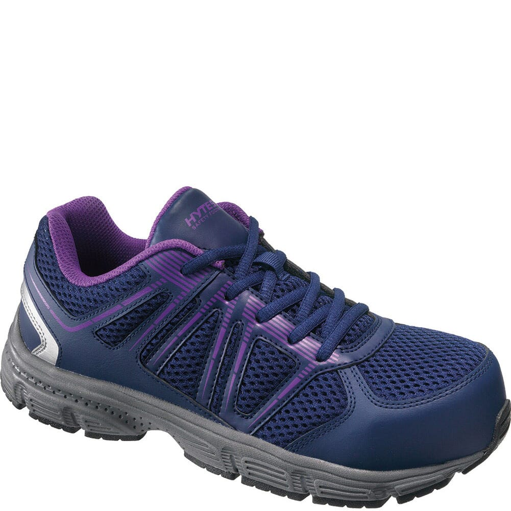 Image for Hytest Women's HY-VIS Safety Shoes - Purple from bootbay