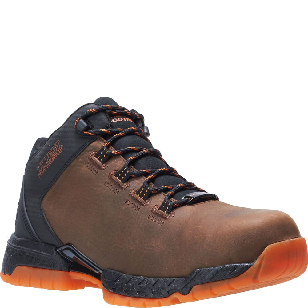 Image for Footrests by Hytest Men's 2.0 Xergy Trainer Safety Shoes - Brown from bootbay