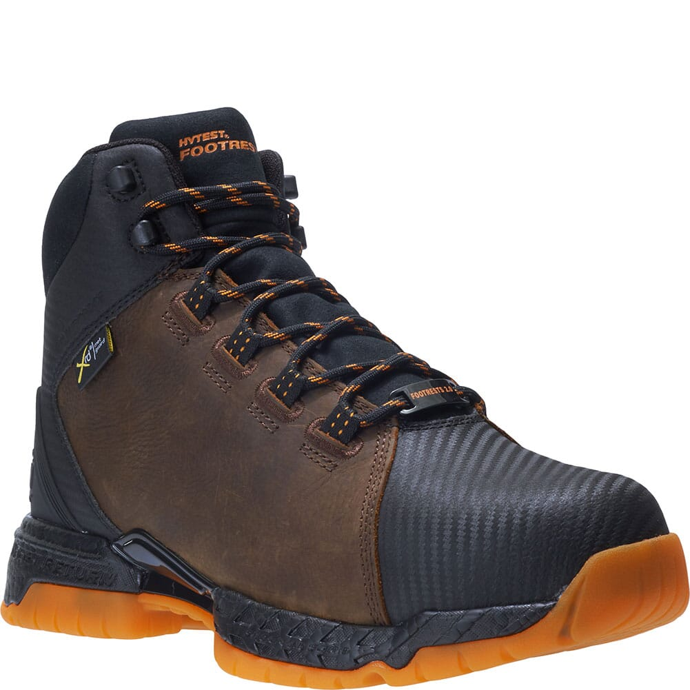 Image for Footrests by Hytest Men's 2.0 Rebound Met Guard WP Safety Boots - Brown from bootbay