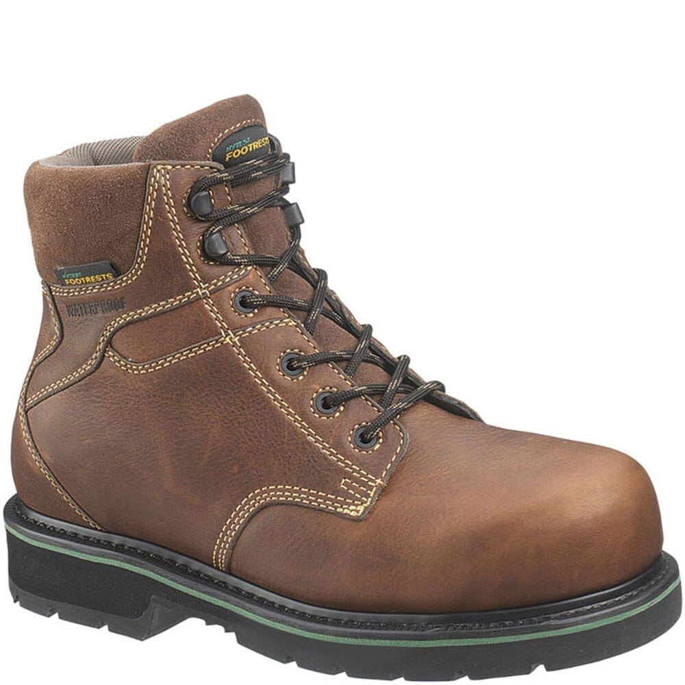 Image for Footrests by Hytest Unisex WP EH Ct Safety Boots - Brown from bootbay
