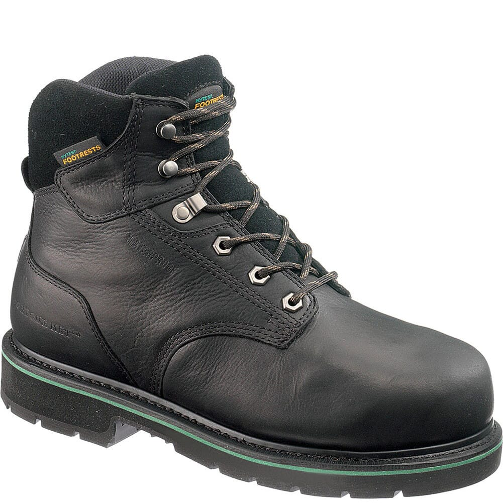 Image for Footrests Men's Internal Met Guard Safety Boots - Black from bootbay