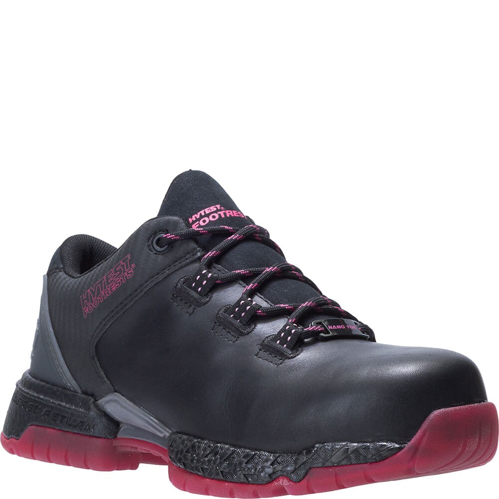 Image for Hytest Women's Footrests 2.0 Pivot Safety Shoes - Black/Berry from elliottsboots
