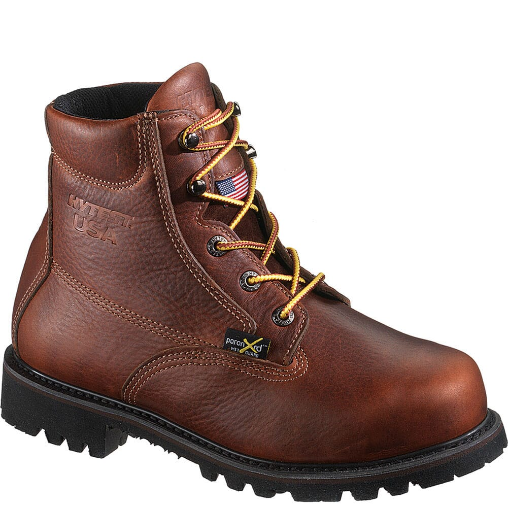 Image for Hytest Men's Metatarsal Guard Safety Boots - Brown from bootbay