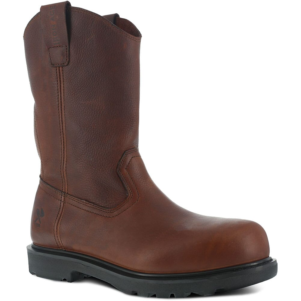 Image for Iron Age Men's Hauler Wellington Safety Boots - Brown from bootbay