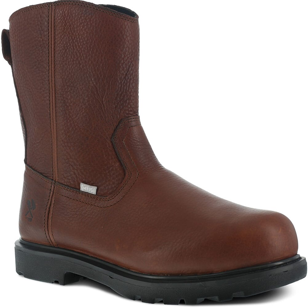 Image for Iron Age Men's EH Side Zip Safety Boots - Brown from bootbay