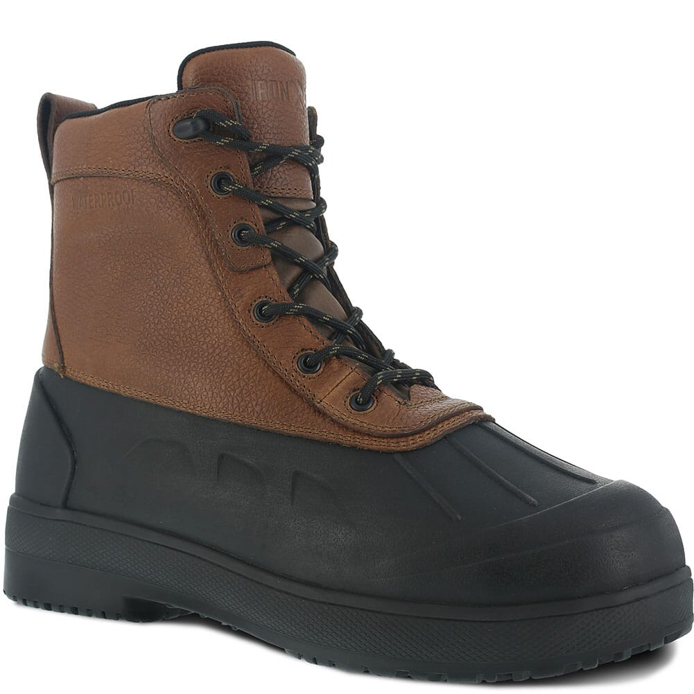 Image for Iron Age Men's Compound WP Safety Boots - Black/Brown from bootbay