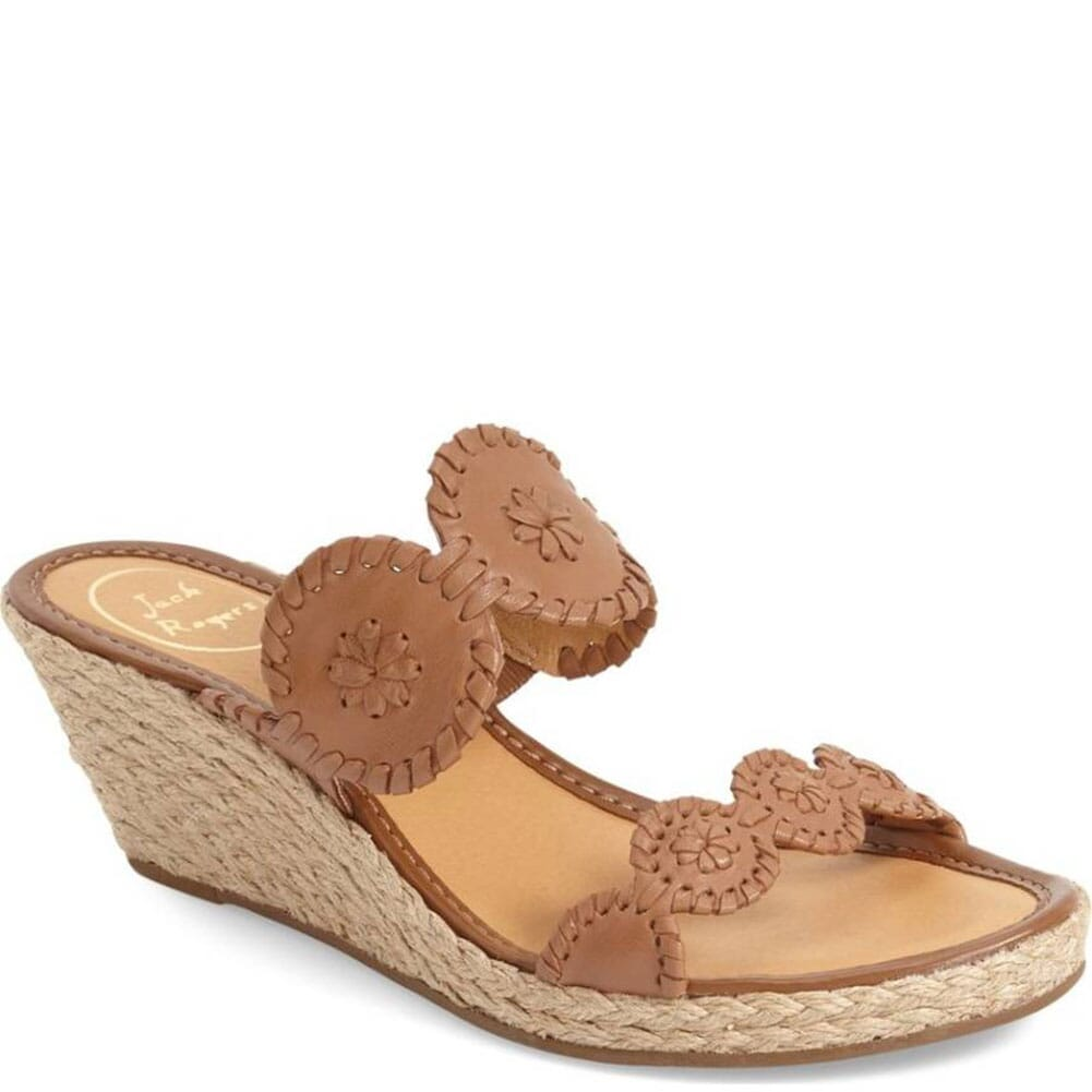 Image for Jack Rogers Shelby Wedge Sandals - Cognac from bootbay