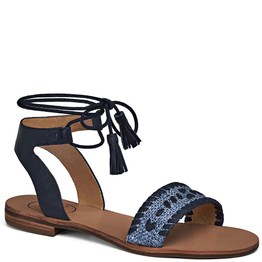 Image for Jack Rogers Tate Raffia Sandals - Blue/Midnight from bootbay