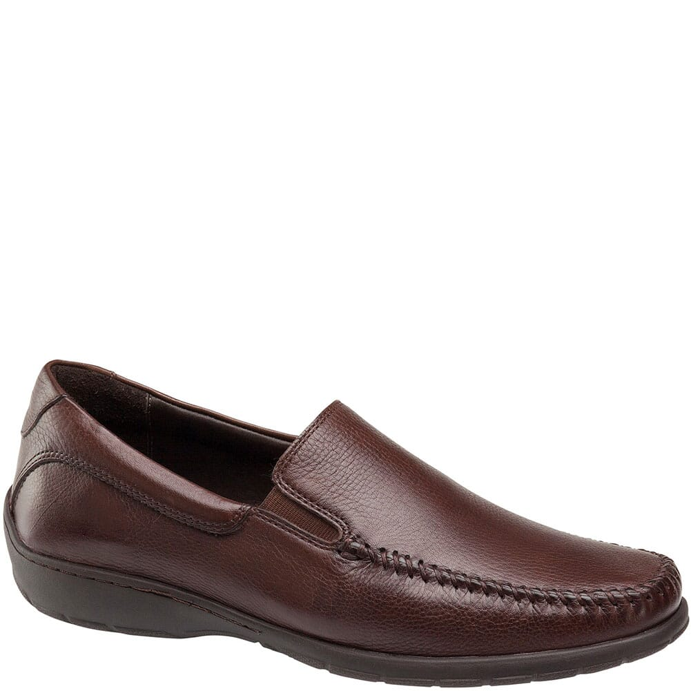 Image for Johnston & Murphy Men's Crawford Venetian Dress Shoes - Mahogany from bootbay